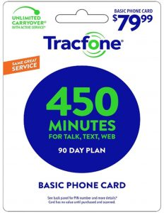 tracfone 90 day 450 minutes plan
