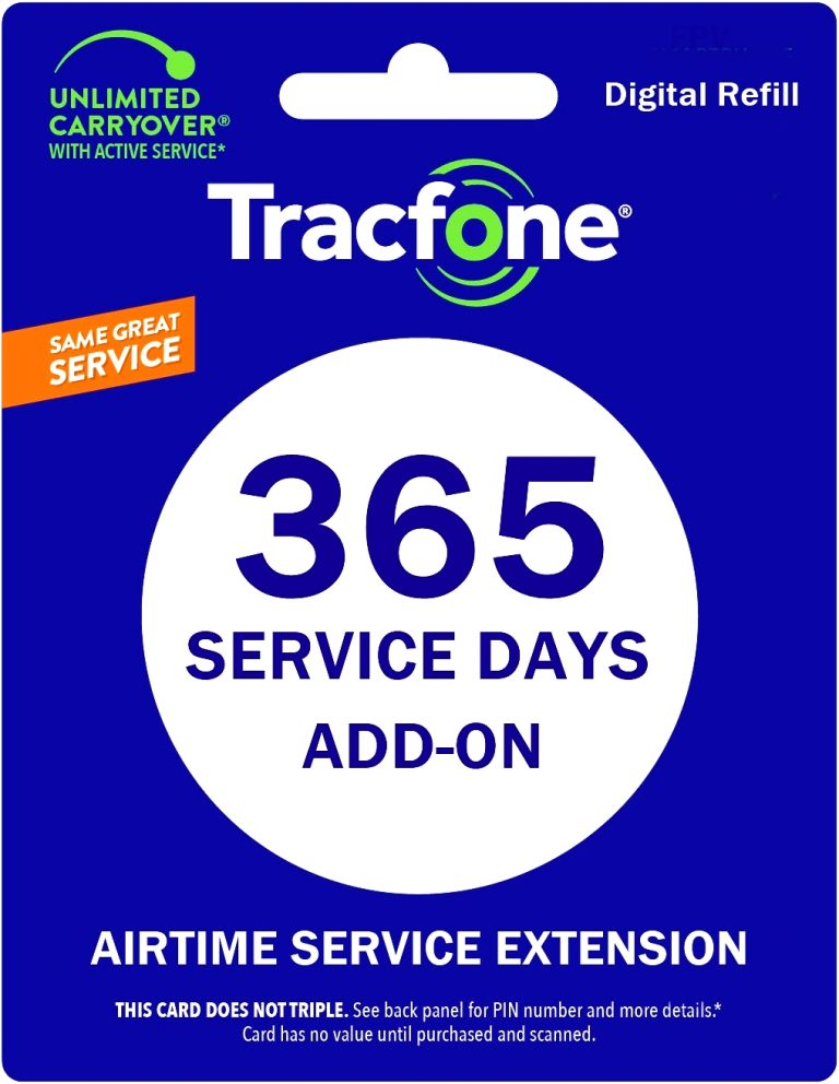tracfone 1 year service extension plan